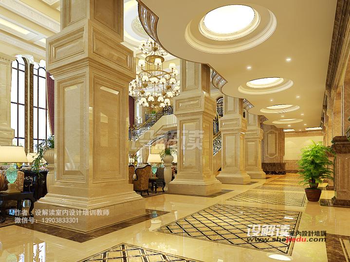 酒店大堂设计表现d04 作者:新意培训学校教师 走廊过道空间