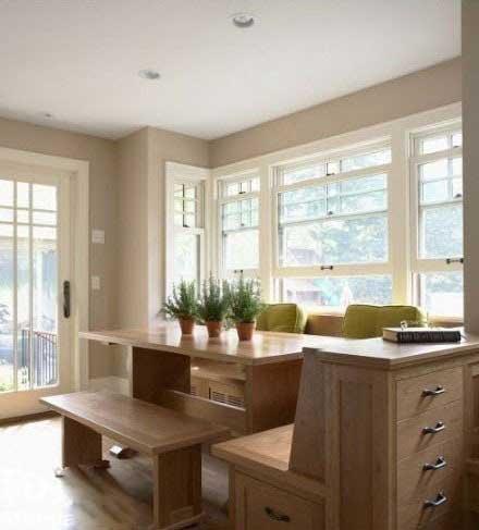 飘窗空间和餐厅设计可以联系做出创意_学益多室内设计