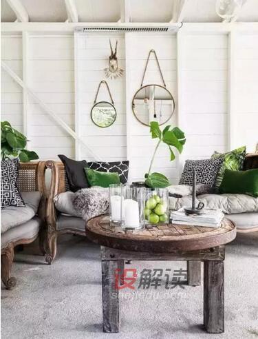 绿色植物装饰的室内设计03