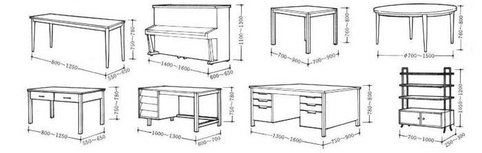 常用家具尺寸图表2