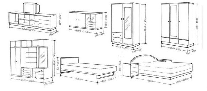 常用家具尺寸图表3